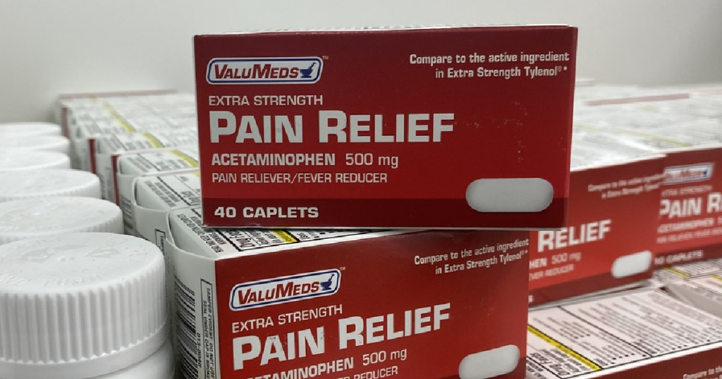 ValuMed Pain Relief on shelf at Walgreens