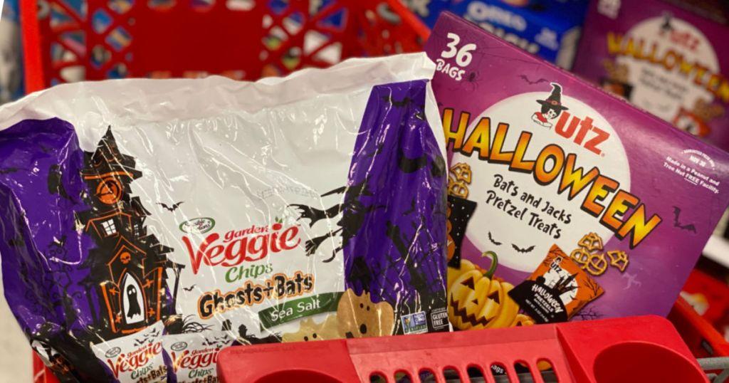 halloween snacks in basket