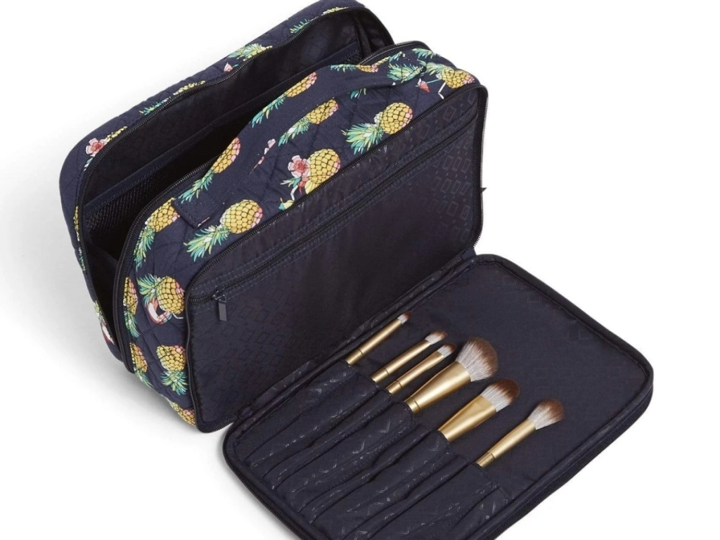 vera bradley outlet toucan party blush and brush makeup case