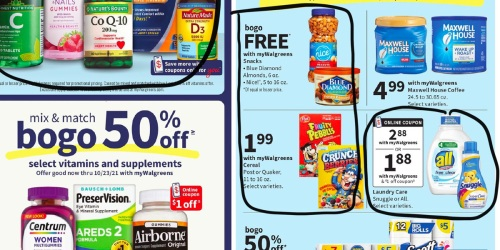Walgreens Ad Scan for the Week of 9/19/21 – 9/25/21 (We've Circled Our Faves!)