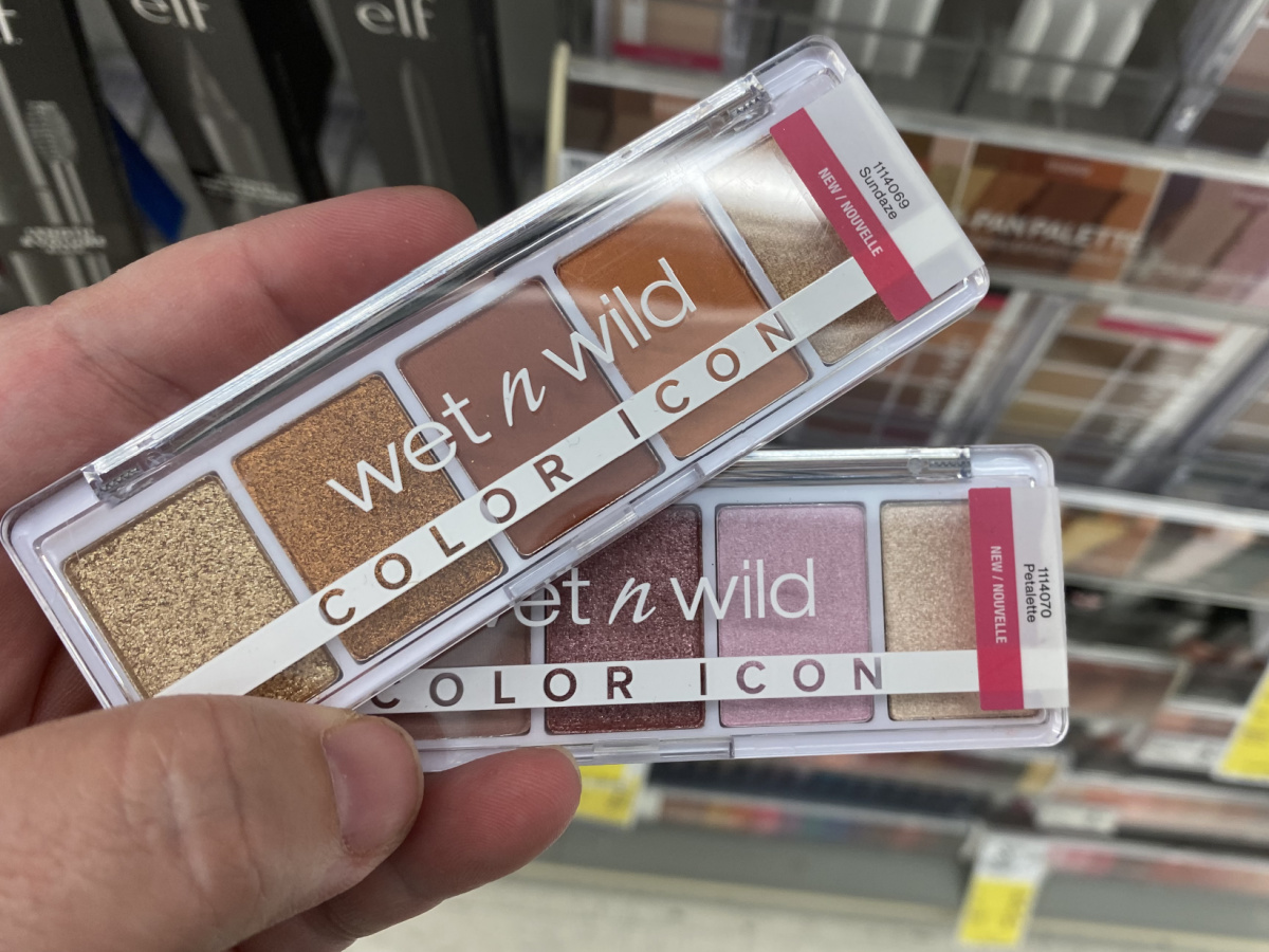 hand fanning Wet N Wild Color Icon Eyeshadows