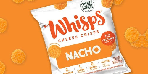 FREE Sample of Whisps Nacho Cheese & Tangy Ranch Cheese Crisps