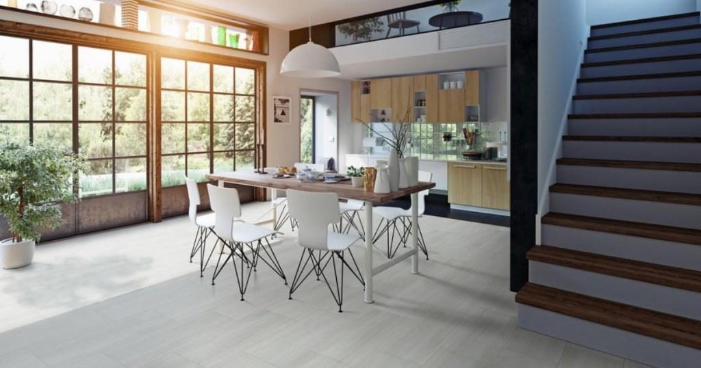 White Ocean Luxury Vinyl Tile Flooring