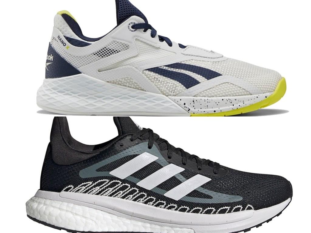 reebok women's training shoe and adidas women's running shoes