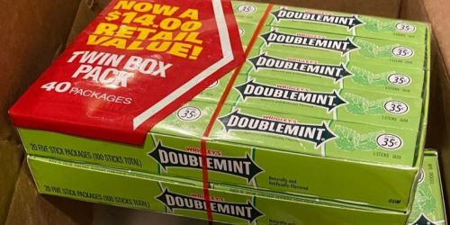 Wrigley's Doublemint Gum 40-Pack Only $5 Shipped on Amazon