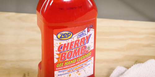 Zep Cherry Bomb Hand Cleaner 48oz Bottle Only $8.48 on Amazon (Removes Stubborn Grease, Paint, & More)