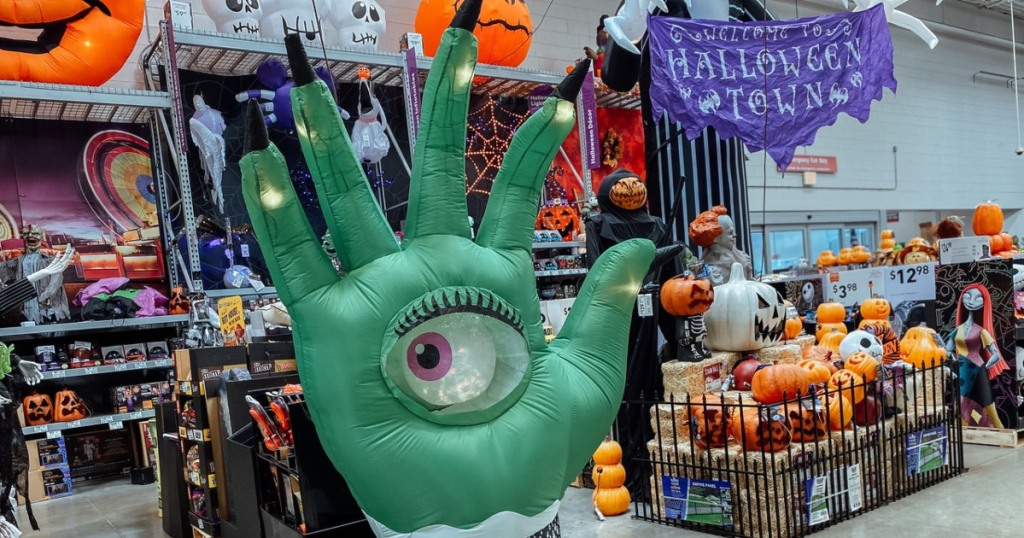 inflatable mystic hand at Lowe's