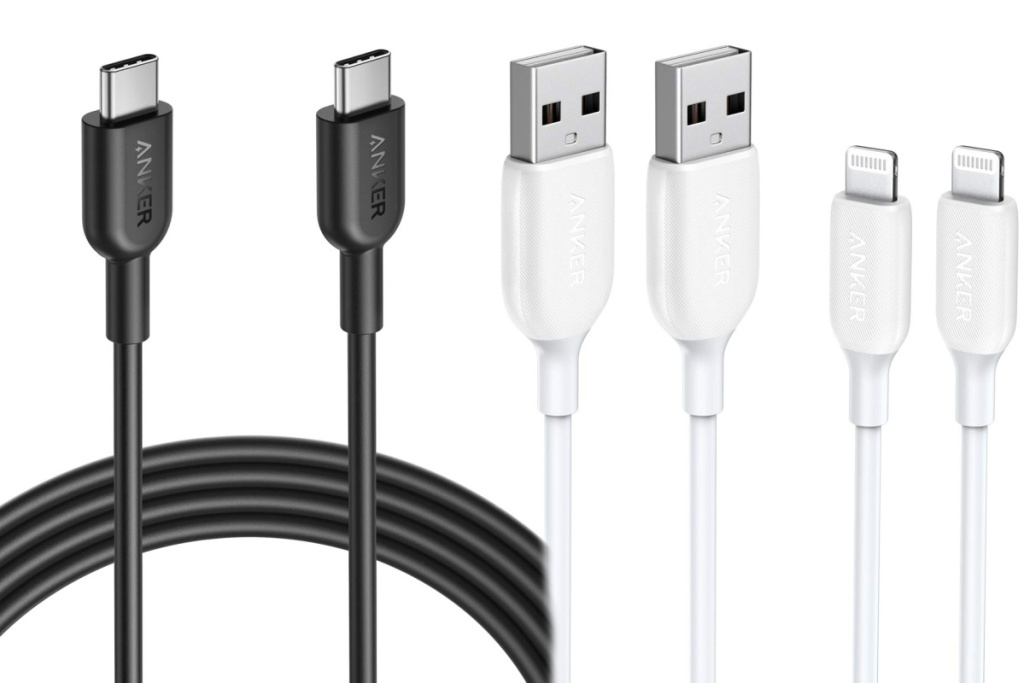 black and white anker cords