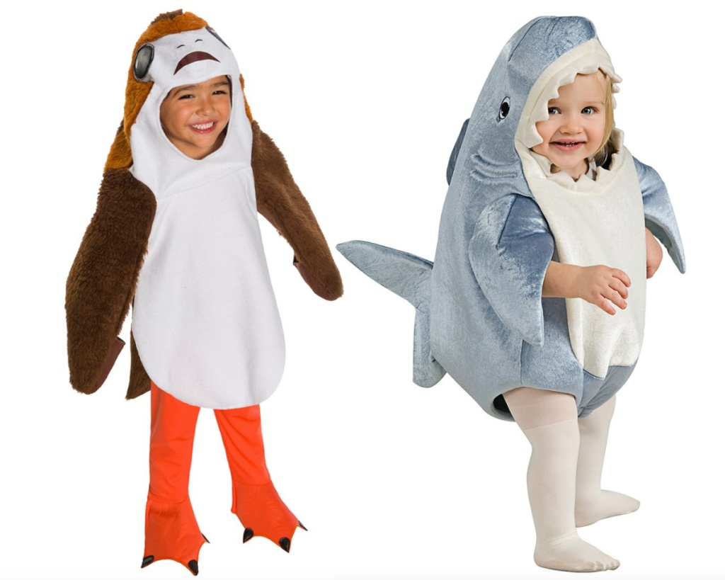 star wars and shark baby costumes