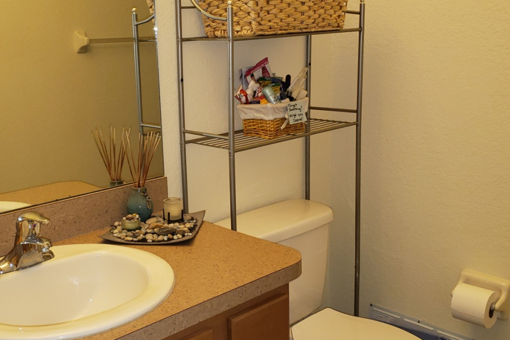 bathroom with samples basket in them