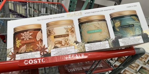 Bellevue Luxury Soy Candle 4-Packs Just $19.99 at Costco