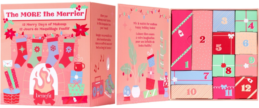 Advent calendar front and inside