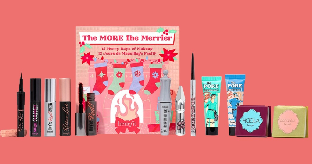 Benefit advent calendar and beauty products