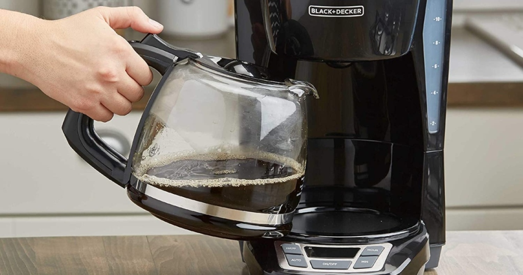 removing carafe from coffee pot