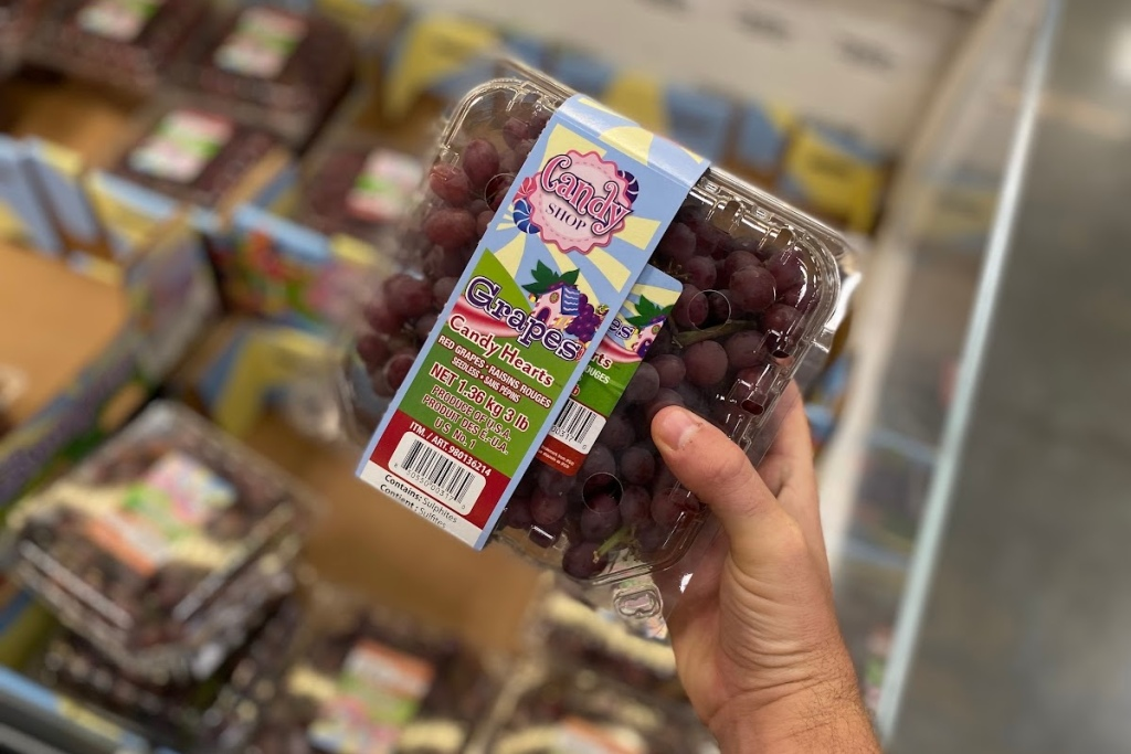 Candy shop grapes at Sam's Club
