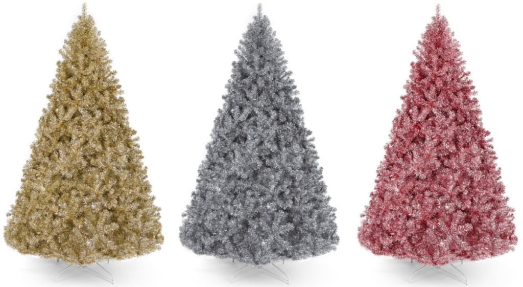 gold, silver and pink artificial tree