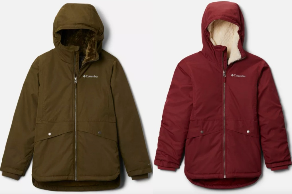 two columbia girls jackets
