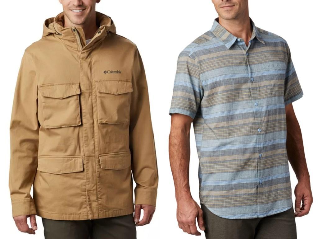 men wearing columbia apparel