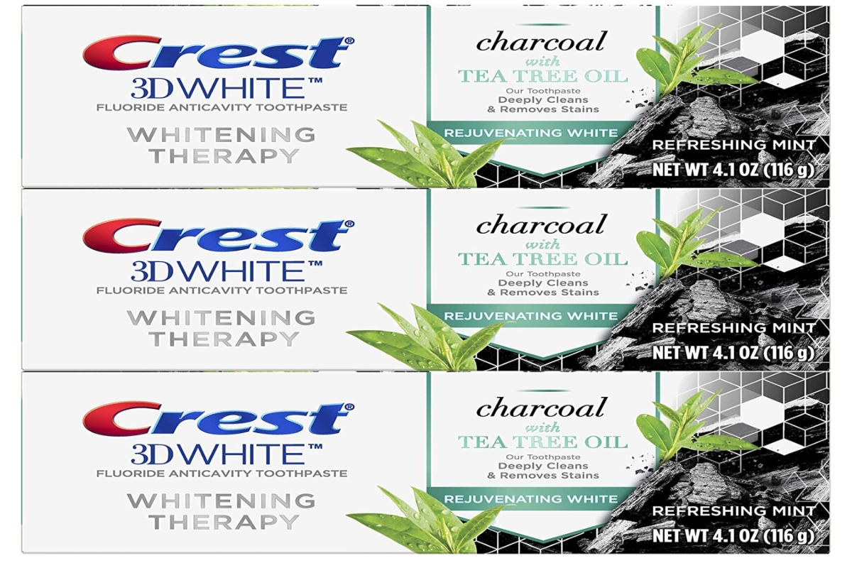 tree packs of crest 3d whitening toothpaste