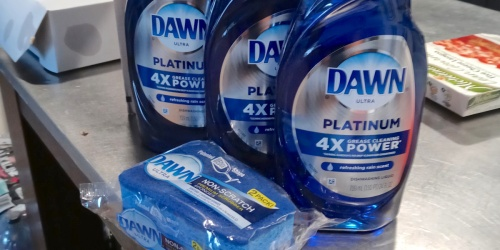 3 Dawn Ultra Platinum Dish Soap 24oz Bottles + 2 Non-Scratch Sponges Only $9 Shipped on Amazon