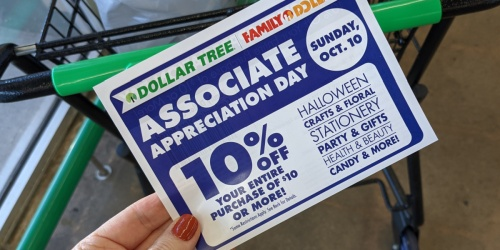 Rare 10% Off Coupon for Dollar Tree | Valid on October 10th Only