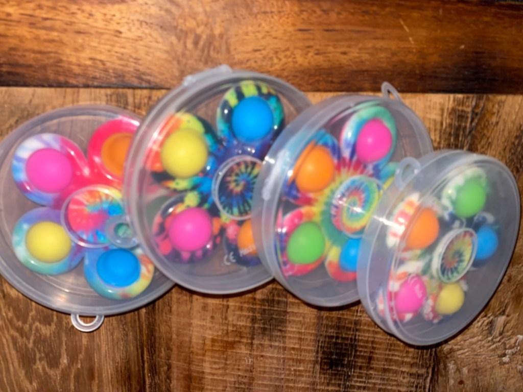 4 pop-it fidget spinners