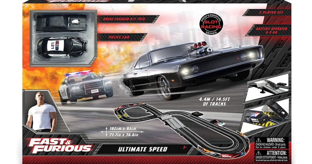 fast and furious racetrack set in package