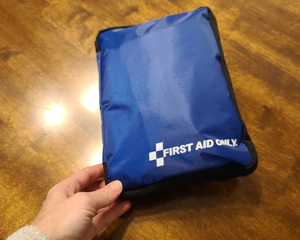 first aid only kit in hand