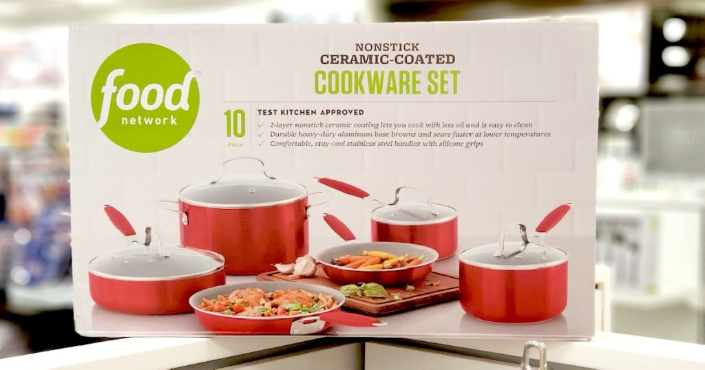 food network cookware set in store at kohls