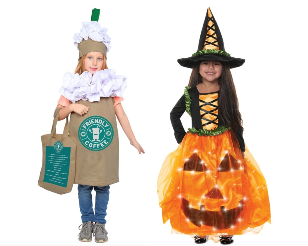 frappucino and witch girls halloween costumes