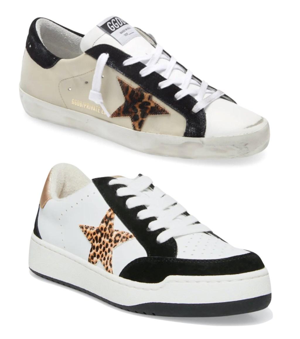 leopard star sneakers