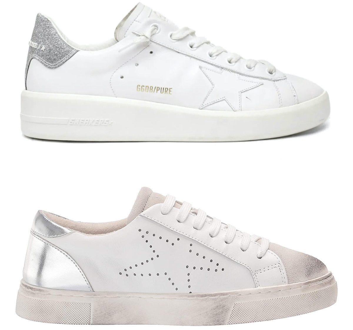 golden goose sneaker compared to steven madden sneaker
