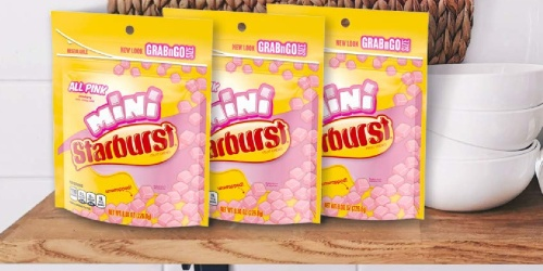 Starburst Minis Grab & Go Bags 8-Pack Only $7.36 on Amazon (Regularly $17)   Only 92¢ Each