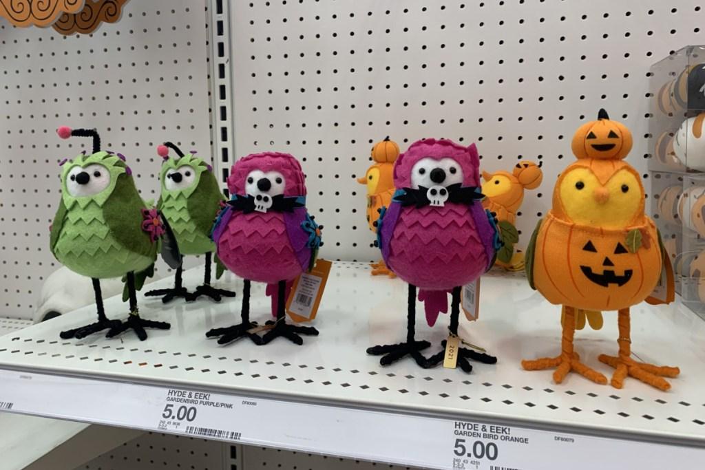 halloween hyde and eek birds on display