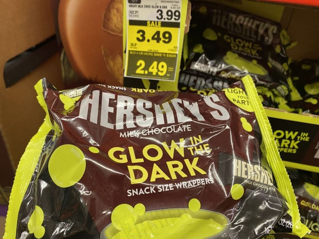 Hershey's Glow in the Dark snack size wrappers