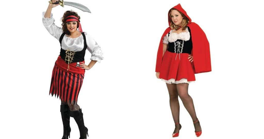 pirate and little red riding hood costumes