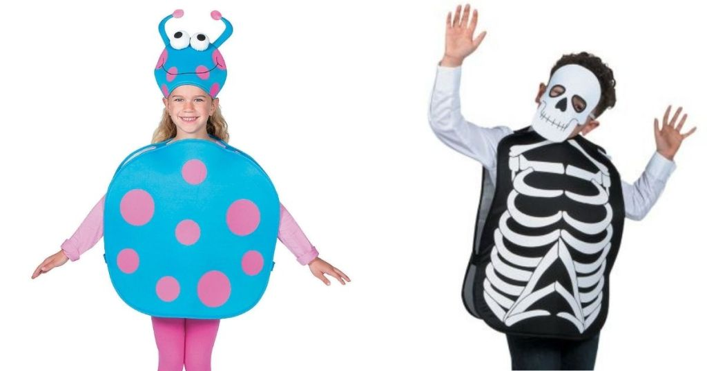 kids monsters and skeleton costumes