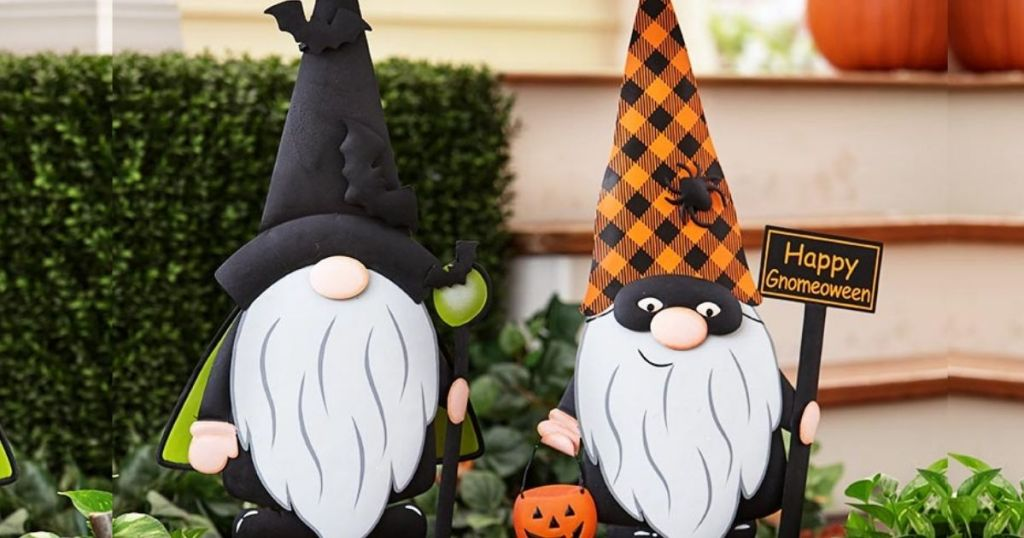 Halloween Gnomes in front yard