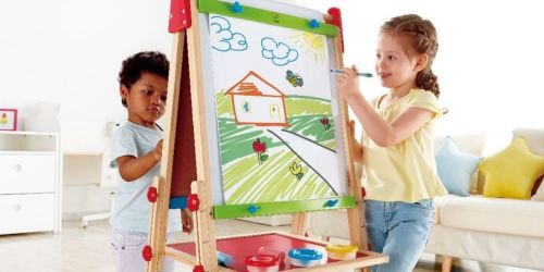 Hape Kids Wooden Easel Only $34.73 Shipped on Amazon (Reg. $89) | Includes Paper Roll & Paint Pots