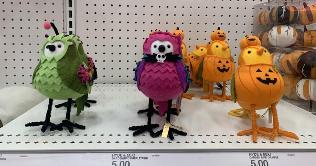 Hyde and eek halloween birds on display