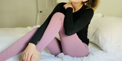 High-Waisted Women's Yoga Pants w/ Pockets from $12.79 on Amazon