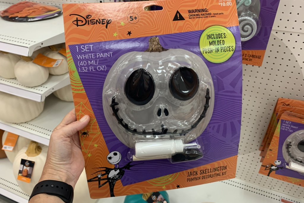 holding jack skellington Halloween Pumpkin Push-In Kit