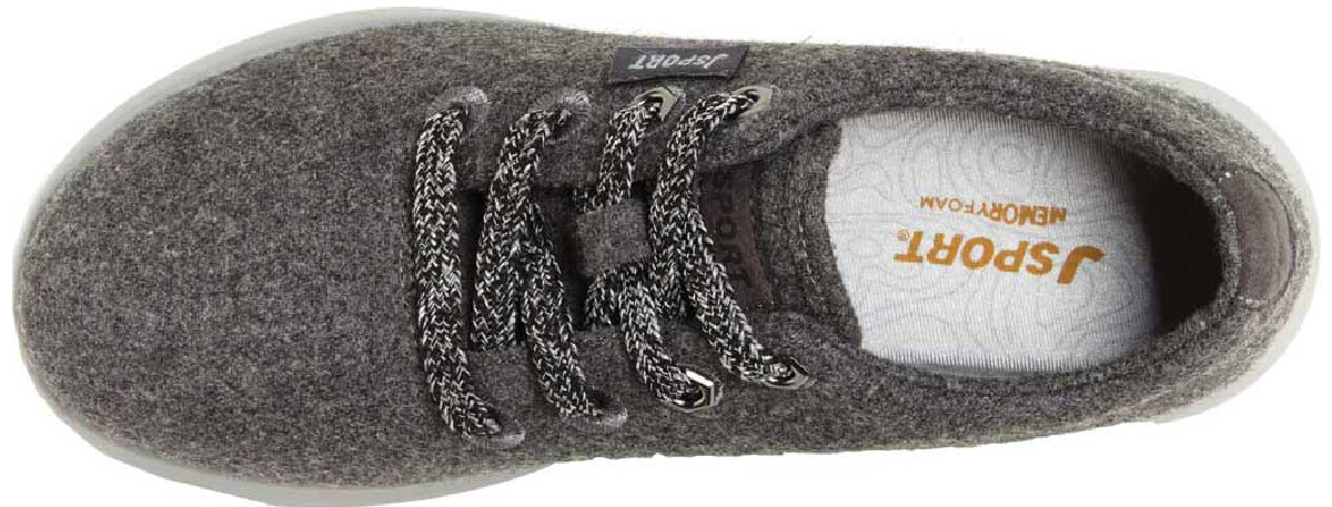 top view of gray jsport shoe