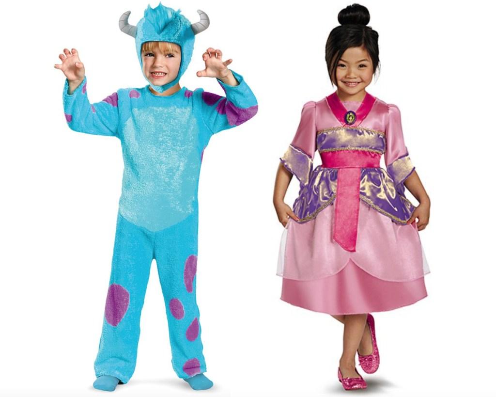 monsters inc and mulan kids disney costumes