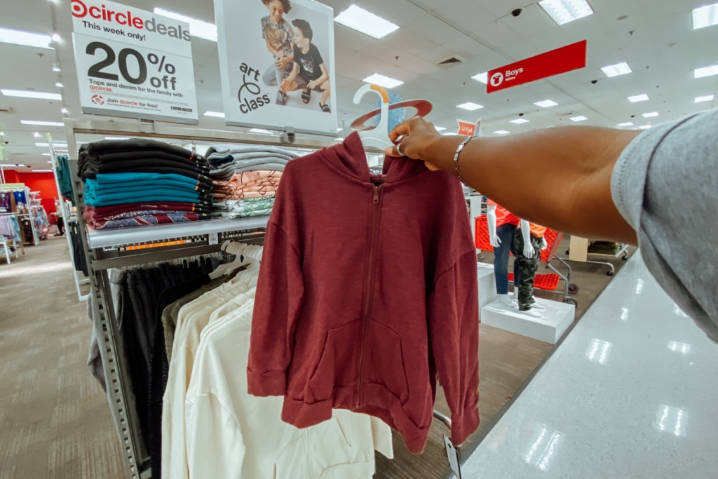 kids sweatshirts in store at target