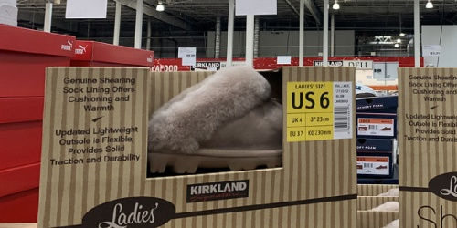 These UGG Look-Alike Kirkland Shearling Slippers Are Only $19.99 at Costco