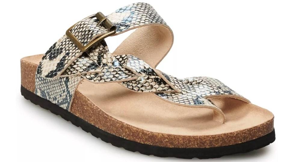 snake print women's sandals