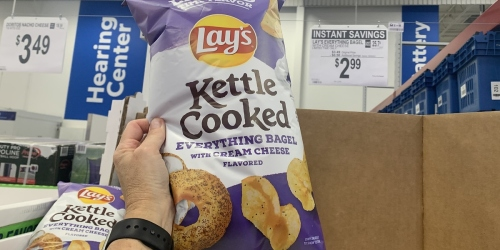 Lay's Everything Bagel w/ Cream Cheese Kettle Cooked Chips Just $2.99 at Sam's Club