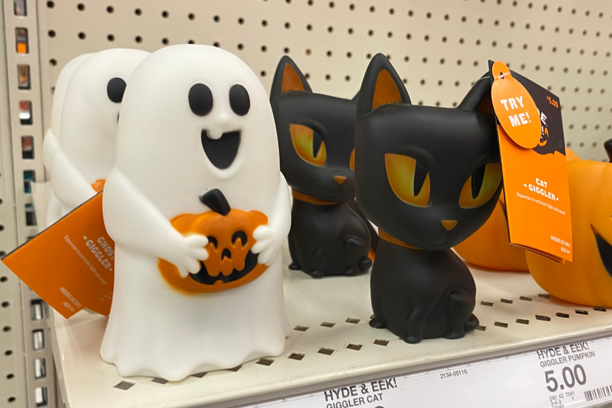 halloween giggler ghost and cat light up on display at target