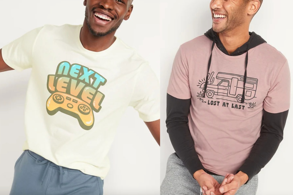 old nvy mens graphic tees